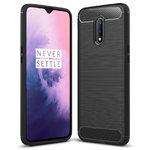 Flexi Slim Carbon Fibre Case for OnePlus 7 - Brushed Black